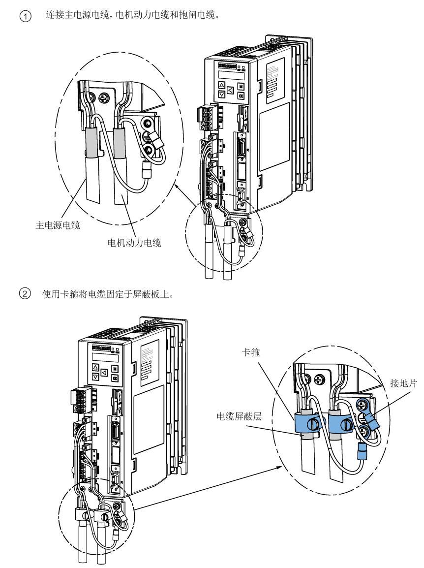 V90动力电缆屏蔽连接